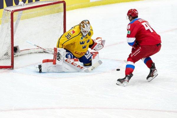 Сборная России обыграла Швецию в серии буллитов в Евротуре