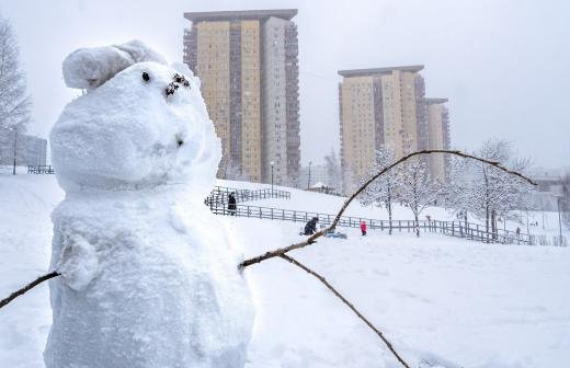 Москвичей предупредили о мощном снегопаде в выходные