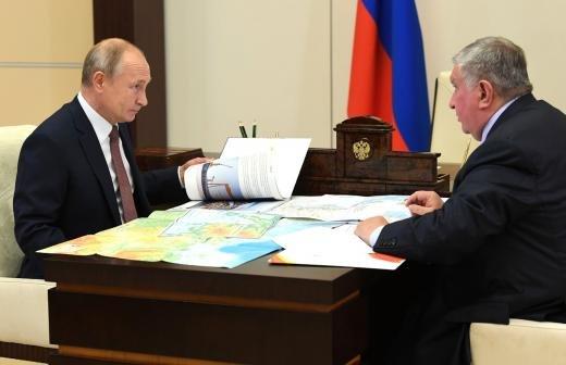 Путин встретился с главой «Роснефти»