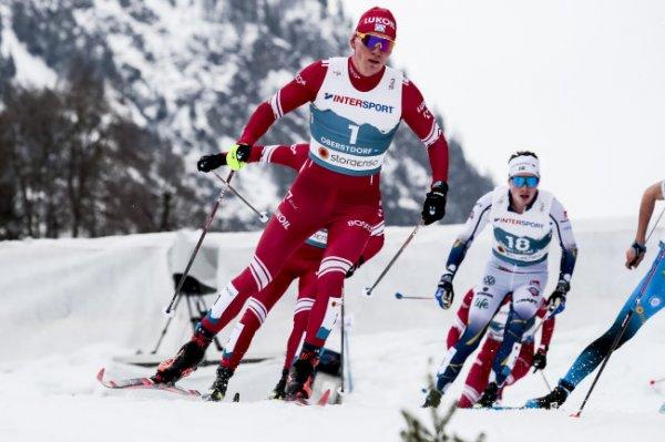 Опубликовано видео столкновения Большунова с Клебо на финише марафона