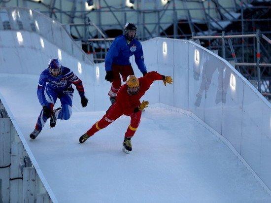 В Подмосковье впервые на чемпионате опробовали уникальную ледовую трассу