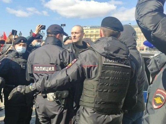 Сергея Удальцова задержали в ходе акции на Манежной площади