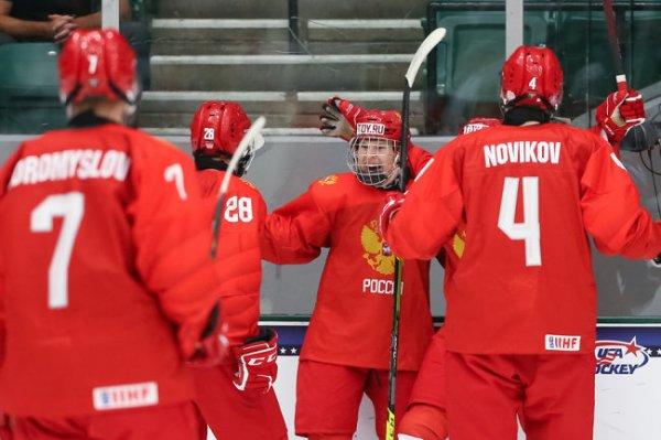 Юниорская сборная России по хоккею разгромила чехов на чемпионате мира