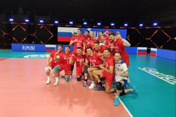 Мужская сборная РФ по волейболу с победы стартовала в Лиге наций