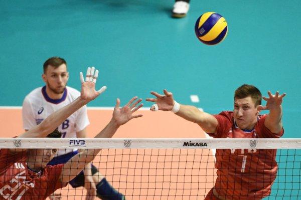 Мужская сборная РФ по волейболу уступила Японии в Лиге наций