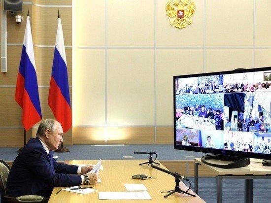 Путин сравнил нагрузку у многодетных родителей и у президента