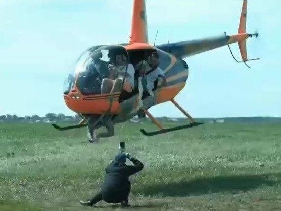 Генерал назвал хулиганством полет «Робинсона» с привязанным к борту фотографом