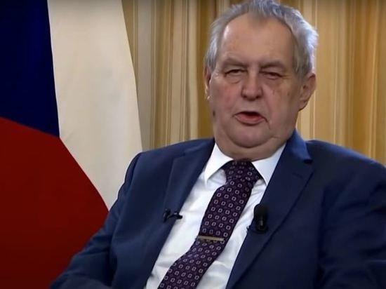 В Чехии захотели объявить импичмент президенту Милошу Земану