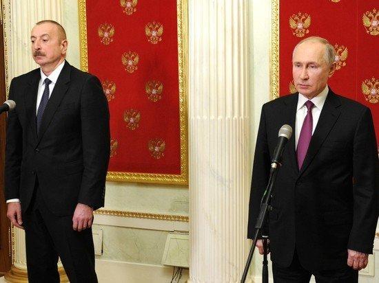 Путин и Алиев обсудили ситуацию в Нагорном Карабахе