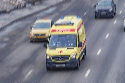 Российский полицейский выехал на встречку и врезался в коллегу