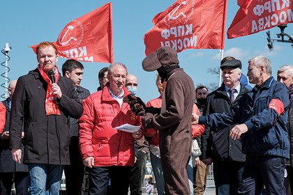 На митинге противников вакцинации в Москве избили «Чебурашку»