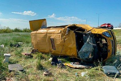 Опубликовано видео с места аварии с пятью погибшими на Кубани