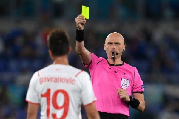 Карасев назначен резервным судьей на четвертьфинал Евро Чехия - Дания