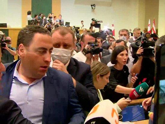 Грузинскому депутату порвали пиджак при драке в парламенте