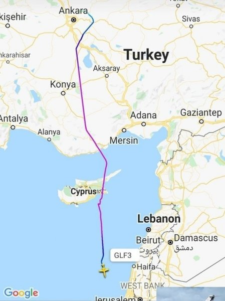 Связанный с израильским Моссадом бизнес-джет совершил два рейса в Анкару