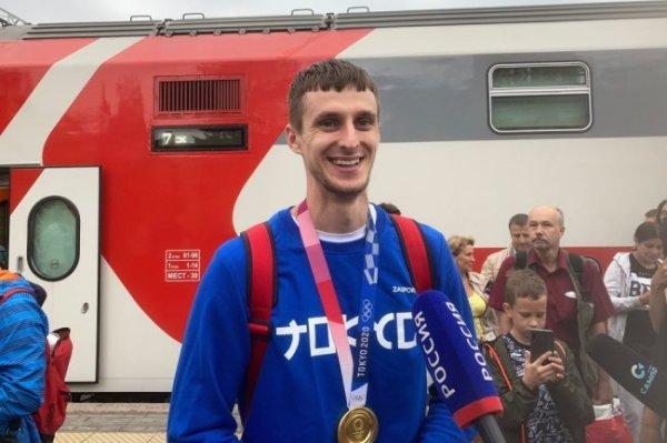 Петрозаводск встретил своего олимпийского чемпиона