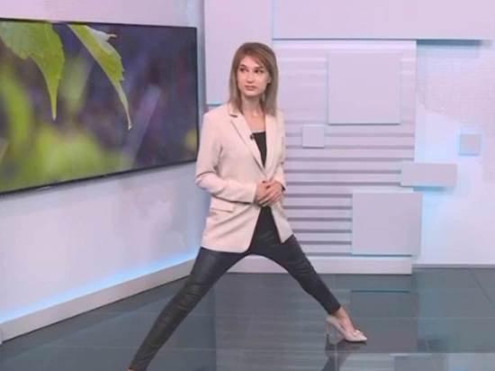 Уфимская телеведущая объяснила странную позу во время эфира прогноза погоды