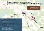 В Кузбассе открыто рабочее движение по новому участку трассы Р-255 и путепроводу