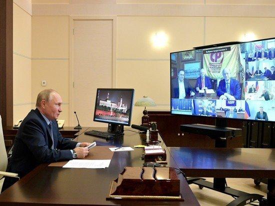 """Мрачновато шутите"": появилось видео реакции Путина на колкости лидеров партий"