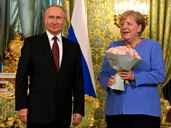 Путин поздравил немцев с Днем германского единства