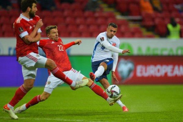 Сборная России нанесла лишь один удар в створ в матче со Словакией