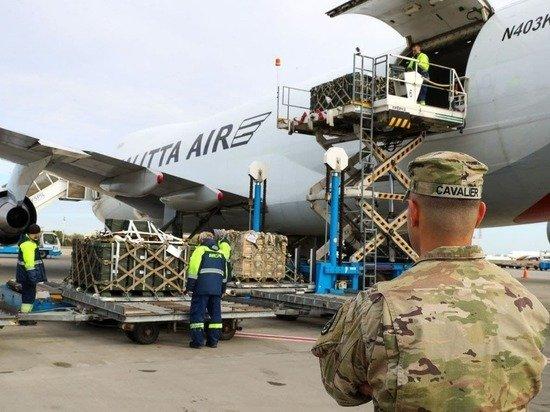 Американский Boeing 747 доставил 90 тонн груза Минобороны Украины