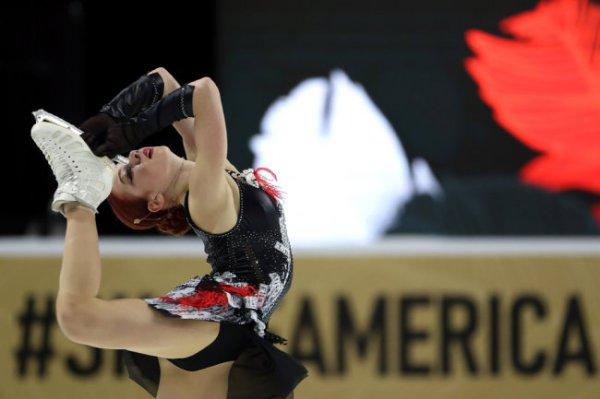 Трусова предстала в образе Чудо-женщины на Гран-при в Лас-Вегасе